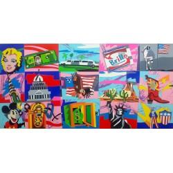 Ugo Nespolo - American Icons