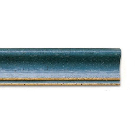 Cornice WHITE-WASHED BLUE-GOLD LINE