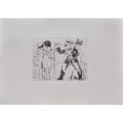 Franz Borghese -  VIVA LA GUERRA - Incisione 5