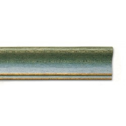 Cornice WHITE-WASHED GREEN-GOLD LINE