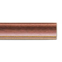 Cornice WHITE-WASHED MAHOGANY-GOLD LINE