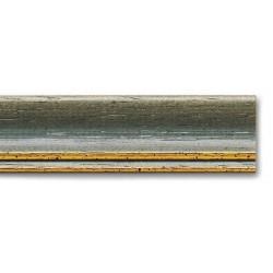 Cornice WHITE-WASHED GREY-GOLD LINE