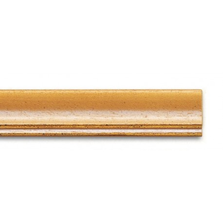 Cornice WHITE-WASHED YELLOW-GOLD LINE